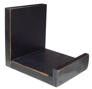 Image Unavailable. Image Not Available For. Color: Black Wooden Bowl Holder  Distressed Country Primitive Home Décor