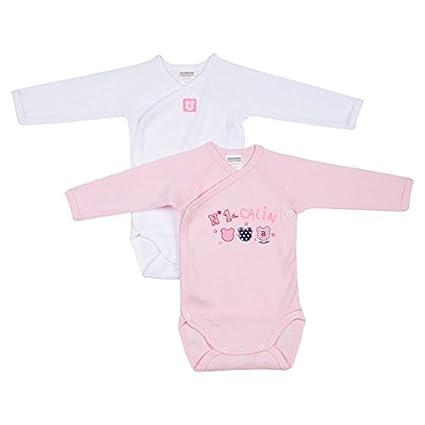 Absorba, Body para Bebé s Body para Bebés Rosa (DRAGEE 32) 62 cm (Talla del Fabricante: 3M) Absorba Underwear 6L62076-RA
