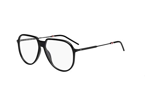 Authentic Christian Dior Homme Black Tie 258 0807 Black Eyeglasses