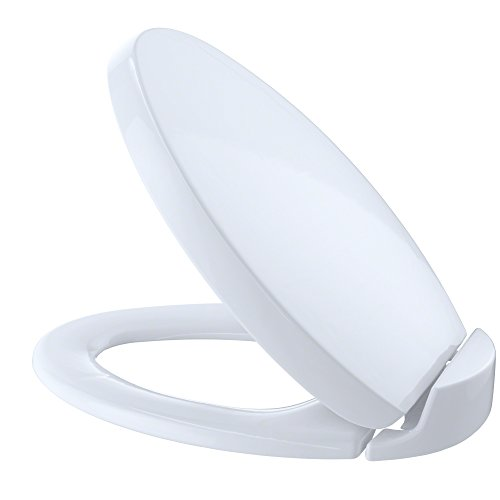 TOTO SS204#01 Contemporary SoftClose Oval Toilet Seat, Cotton White