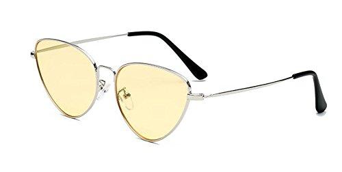 Lennon du retro style Jaune vintage métallique inspirées cercle soleil rond Film en polarisées de lunettes Wq4a8f