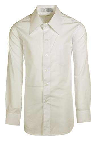 Boys Ivory Dress Shirt Long Sleeve, Button Up -