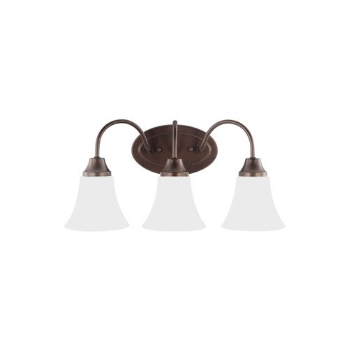 Sea Gull Lighting 44807EN3-827 Holman Vanity, 3-Light LED 28.5 Total Watts, Bell Metal (Watt Bell Led)