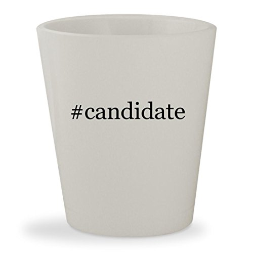#candidate - White Hashtag Ceramic 1.5oz Shot Glass