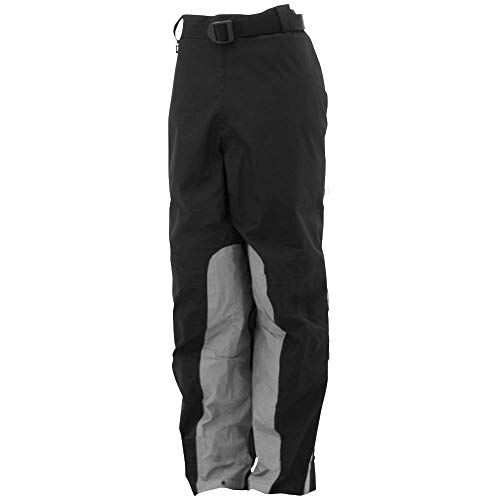 (Frogg Toggs Pilot Reflective Pant, Black/Silver, Size Large)
