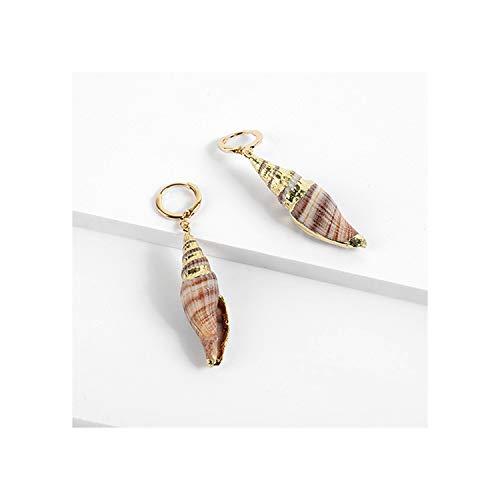 Elegant Real Conch Shell Earrings for Women Beach Jewelry Female Party Statement Drop Dangle Earrings,2