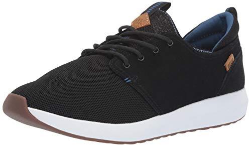 REEF Men's RF0A3YKL Skate Shoe, Black/White/Aqua, 12