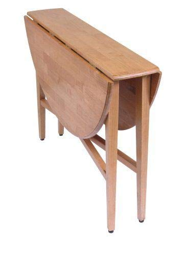 42-inch Round Drop-Leaf Table Folding Dining Kitchen Accent Table by Anya Nana