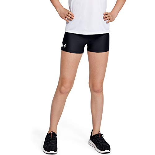 Under Armour Heatgear Armour shorty, Black//White, Youth X-Large