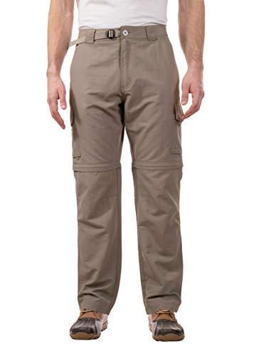 (Swiss Alps Mens UPF 30+ Sun Protection Multi Pocket Convertible Pants, Khaki, 36/32)