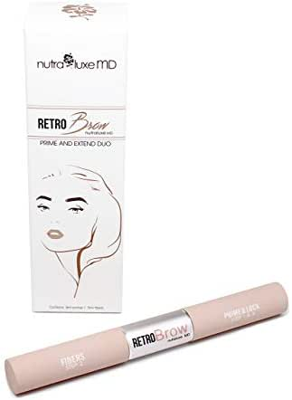 NutraLuxe MD Retro Brow Prime and Extend Duo - Light Brown