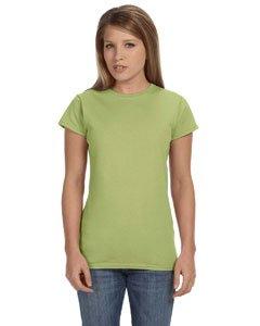 Junior girls softstyle t-shirt. (Kiwi) (Small)