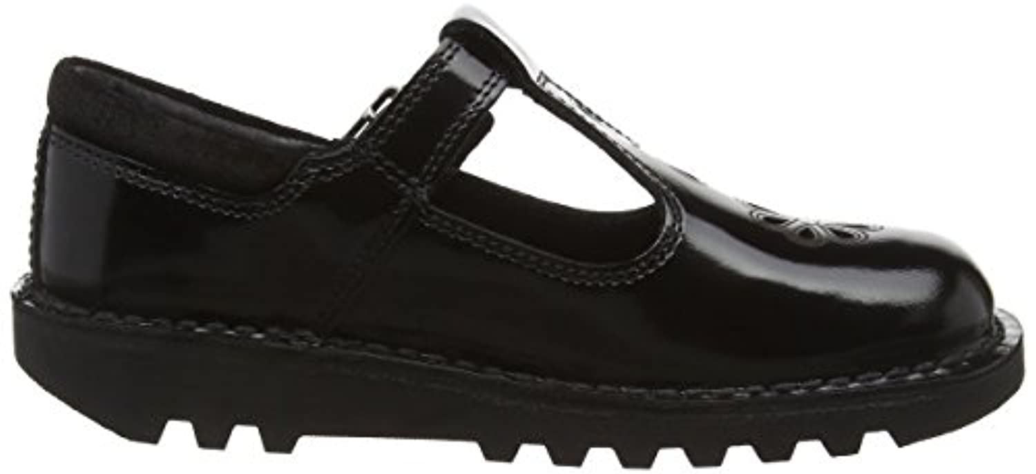 Kickers Girls' Kick T Suma Junior Mary Jane, Black (Black), 1 UK 33 EU