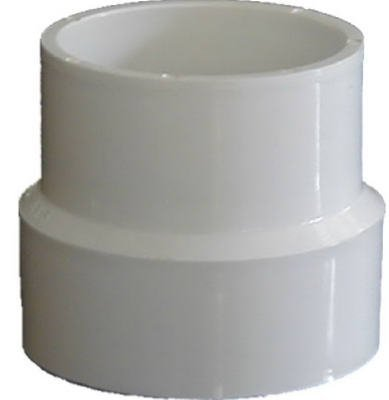 Genova 71544 SCH 40 PVC-DWV Sewer Pipe Adapter Couplings, Size: 4 x 4 by Genova - Pipe Coupling Sizes