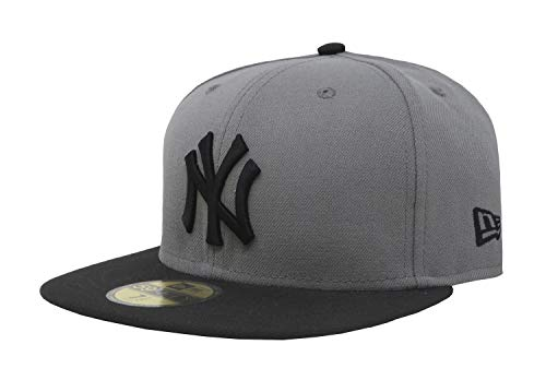 New Era 59Fifty Hat New York Yankees MLB Basic Storm Gray/Black Fitted Cap (7 1/4) (7 ()