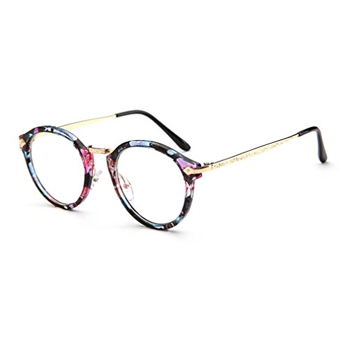 LOMOL Girls Retro Cute Personality College Style Radiation Protection Transparent Lens Frame - Sunglasses For Uk Degeneration Macular