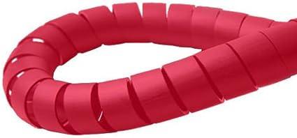 Organizador de Cables en Espiral Color Negro y Rojo 3 mm Hilltop