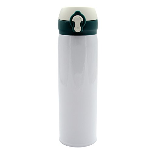 Udyr Vacuum Insulated 16oz Cup - Double Walled Stainless Steel Water Thermos - Design for Sports & Outdoors Activities - Keeps Cold and Hot, White
