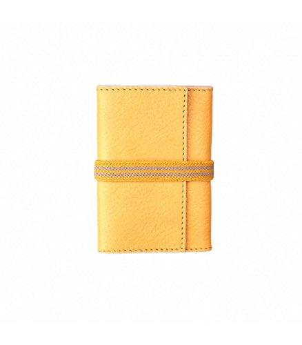 Cartera de cuero hecha a mano en España- Práctica, Elegante y con una Gran Calidad y Diseño- Amarillo: Amazon.es: Equipaje
