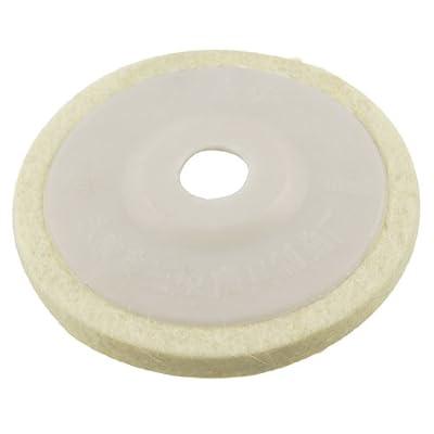 Uxcell Wool Felt Polishing Wheel Abrasive Disc, 16mm, White