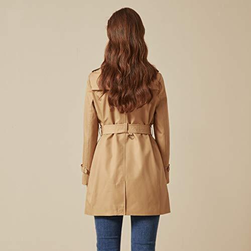 longue long mi femmes à revers camel à Manteau et couleur pour longs manches s ajustables ample Manteaux taille longues Veste ExIn4C80qw