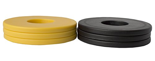 Washer Yard Toss Replacement Pitching Set (Black/Gold, Set of 6)