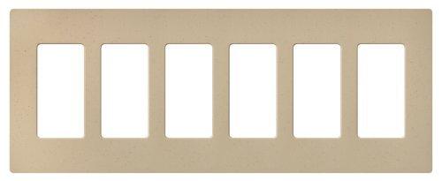Lutron SC-6-DS Satin Colors 6-Gang Wallplate, Desert Stone by Lutron