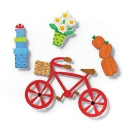 Embellish Your Story Bike and Accessory Magnets - Set of 4 Assorted - Embellish Your Story Roeda 17478-EMB