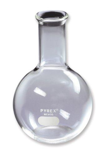 Corning Pyrex Borosilicate Glass Flat Bottom Boiling Flask, 500mL Capacity (Pack of 6) Corning Pyrex Borosilicate Glass
