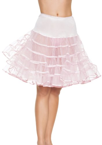 [Leg Avenue Mid Length Petticoat Dress, Pink, One Size] (Petticoat Girls Halloween Costumes)