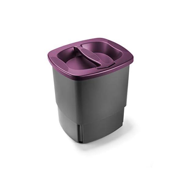 Komprimo-Cestino-Bidone-Compattatore-Riduce-Volume-rifiuti-Fino-al-70-Viola-Pattumiera-Cucina