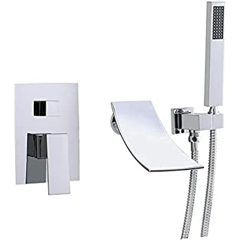 Shower System Brushed Nickel Luxury Bathroom Wall Mount
