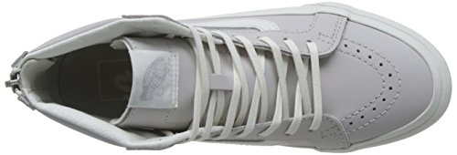 De Damen Blanc Vans Chime Sk8 hi UA Grau grau Sneaker Slim Leather Zip Blanc Wind Odxd61w