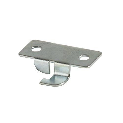 Econoco LKCP50 Deluxe Style Snap-in Center Shelf Rest, Metal, Zinc (Pack of 50)