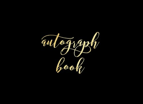 "Autograph Book: Black Matte Blank Unlined Keepsake, Memory Book, Scrapbook For All Your Favorite Sports Stars, Disney Cartoon Characters. Memorabilia Album Gift | 8.25""x6"" Softback 100 Pages"