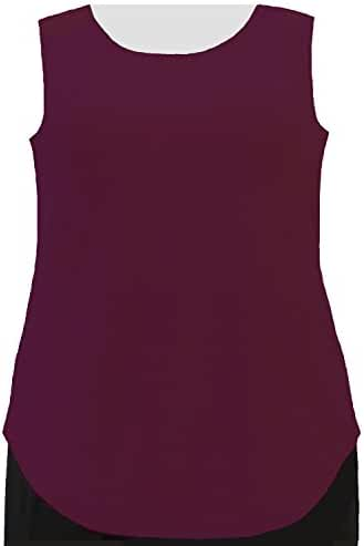 A Personal Touch Women's Plus Size Wine Tank Top