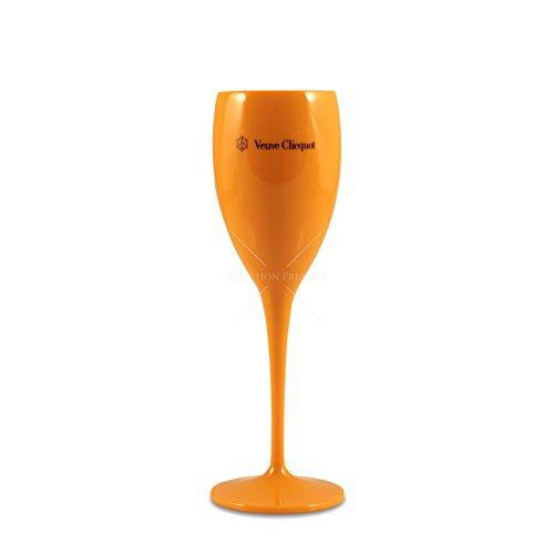 (Veuve Clicquot Acrylic Champagne Flute Yellow Label)