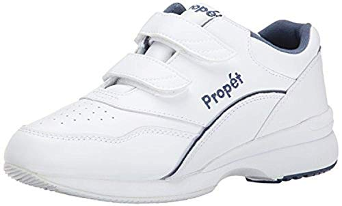 (Propet Women's Tour Walker Strap Shoe White/Blue 9.5 W (D))