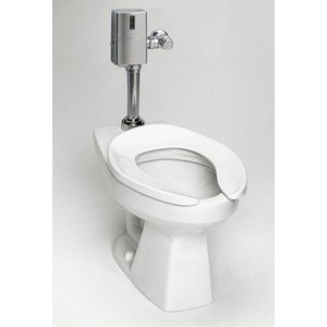 Elongated Flush Valve Toilet (TOTO CT705EN#01 Floor-mounted, Elongated Front Bowl, Less Valve and Seat.)