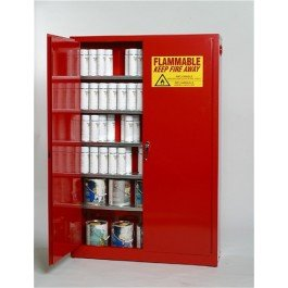 Eagle Paints, Inks, And Class Iii Combustibles Safety Cabinet - 43X12x65'' - 30-Gallon Capacity - Self-Closing Doors - Red - Red by Eagle