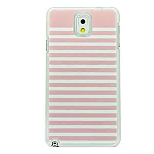 NEW Pink and White Striped Leather Vein Pattern Hard Case for Samsung Galaxy Note 3 N9000