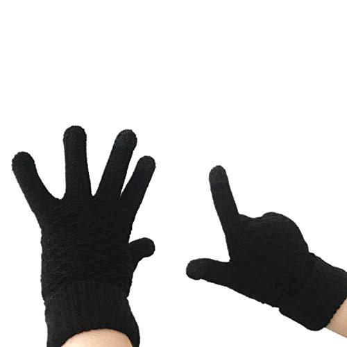 URIBAKE Unisex Knit Gloves Fashion Solid Keep Warm Winter Knitwear Gloves Mittens