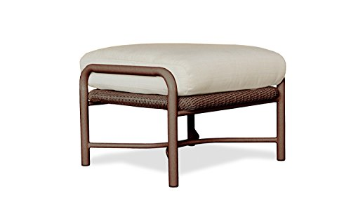 Lloyd Flanders 72217-070-Y26 Freeport Collection Ottoman in Chocolate Loom Finish, Canvas Tuscan (Tuscan Collection Garden)