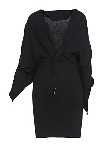 Wolle Einfarbig Schwarz Damen Kleid IT Cruciani 40 aIPq6gwRx