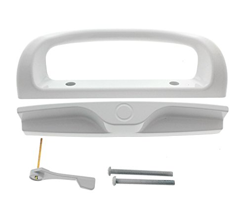 Patio Door Handle Set, 2 Handle White Replacement for Sliding Doors Using 3-15/16
