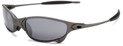 amazoncom oakley mens juliet metal iridium sunglassesx metal frameblack lensone size clothing