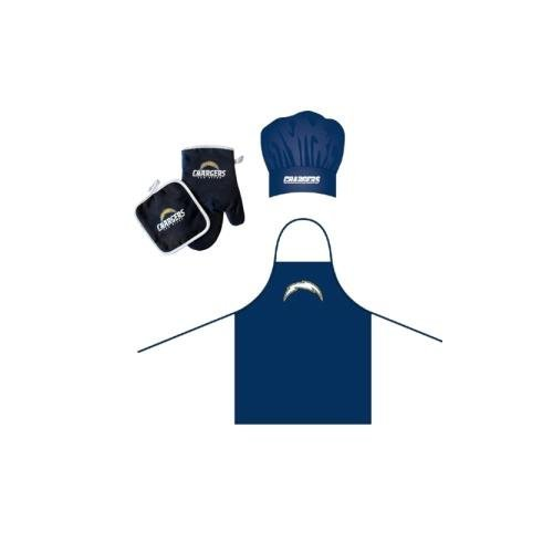 - San Diego Chargers NFL Barbeque Apron, Chef's Hat and Pot Holder Deluxe Set