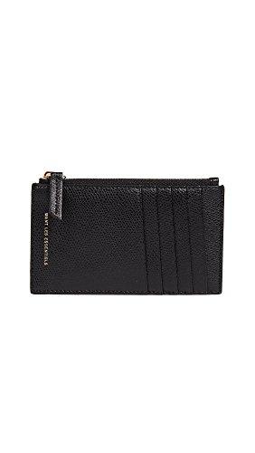 WANT LES ESSENTIELS Women's Adana Zipped Card Holder, Black, One Size by WANT LES ESSENTIELS