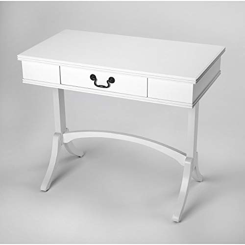 (Writing Desk in White Finish)
