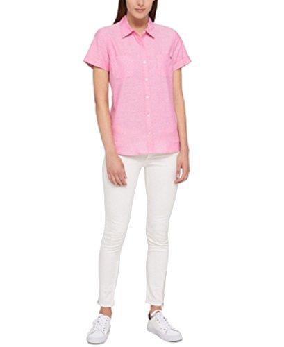 Tommy Hilfiger Cotton Camp Shirt (Hibiscus, - Hibiscus Camp Shirt